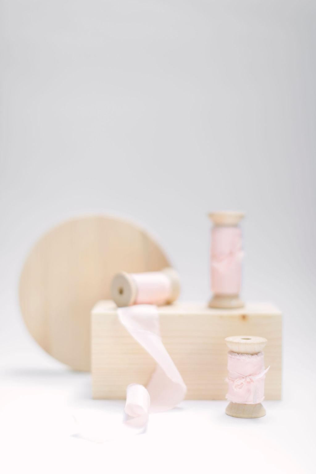 Silkesband - Blush