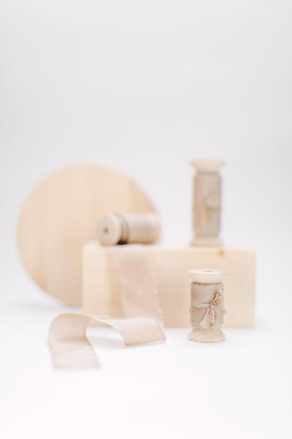 Silkesband - Taupe